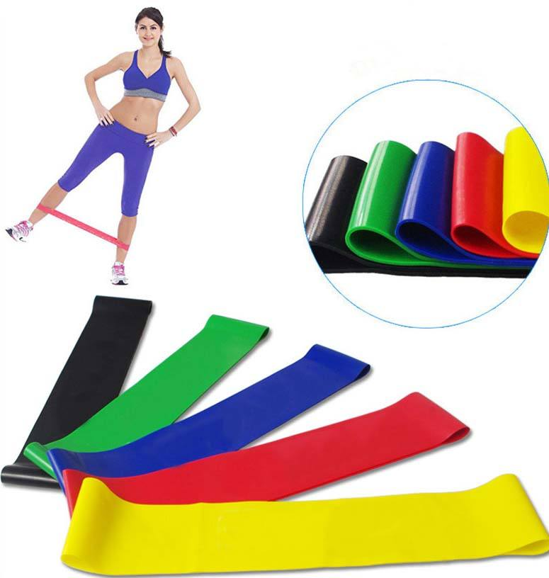 Cross Fitness 5 Levels Latex Resistance Exercise Loop Bands