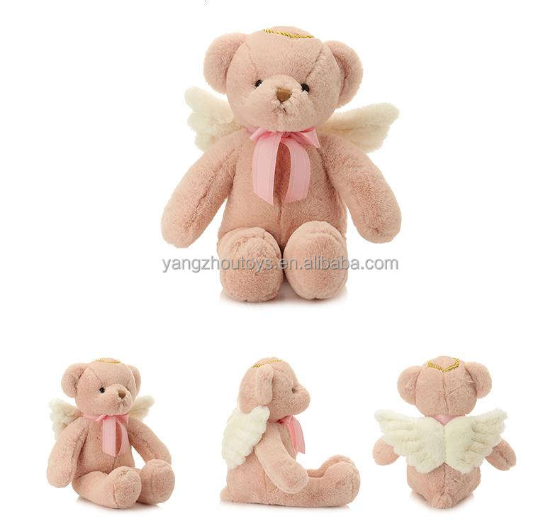 2018 new OEM angel bear plush toy stuff heaven teddy bear with two wings