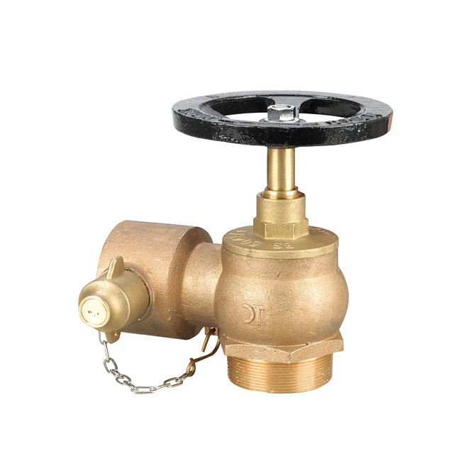 Fire hydrant landing water valve