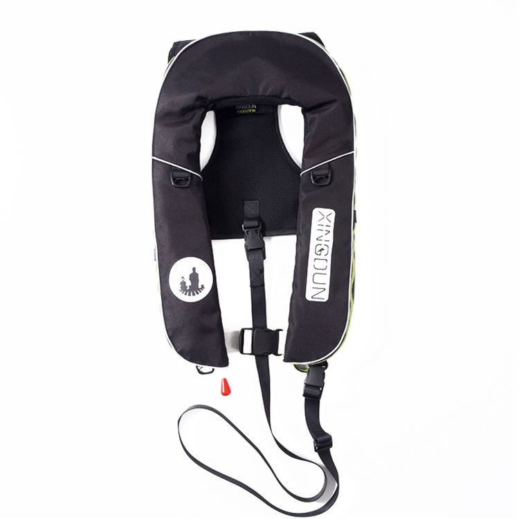 Professional portable ce inflatable boat nylon vest life jacket with co2 cylinder