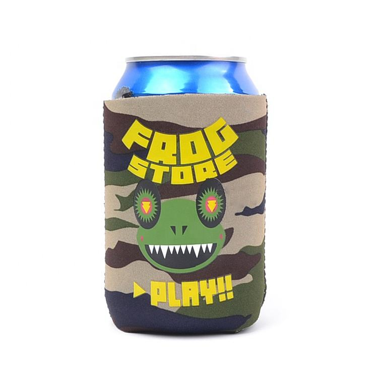 Wholesale Custom Printing New Style Camo Neoprene or Foam Bottle Grass Blank Can Usb beer Cooler Holder bottle carrier