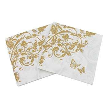 2 Ply Custom Design Disposable Golden Napkin Table Paper