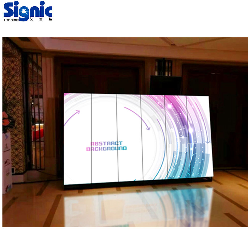 P3 indoor wireless controller easy installation hanging up free standing wall mounted application led poster display