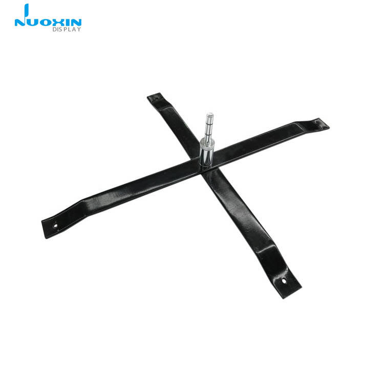 Outdoor portable flexible economy flag pole stand X cross base for teardrop/feather flag