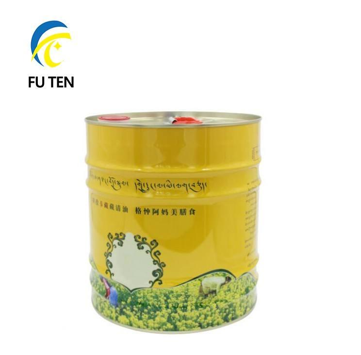 Растительное масло пищевой круглый металлический может 10 литров оливковое масло жестяных банок