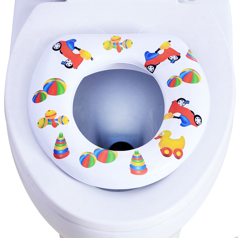 SGS cheap price without handle Soft padded baby/kids potty toilet training seat