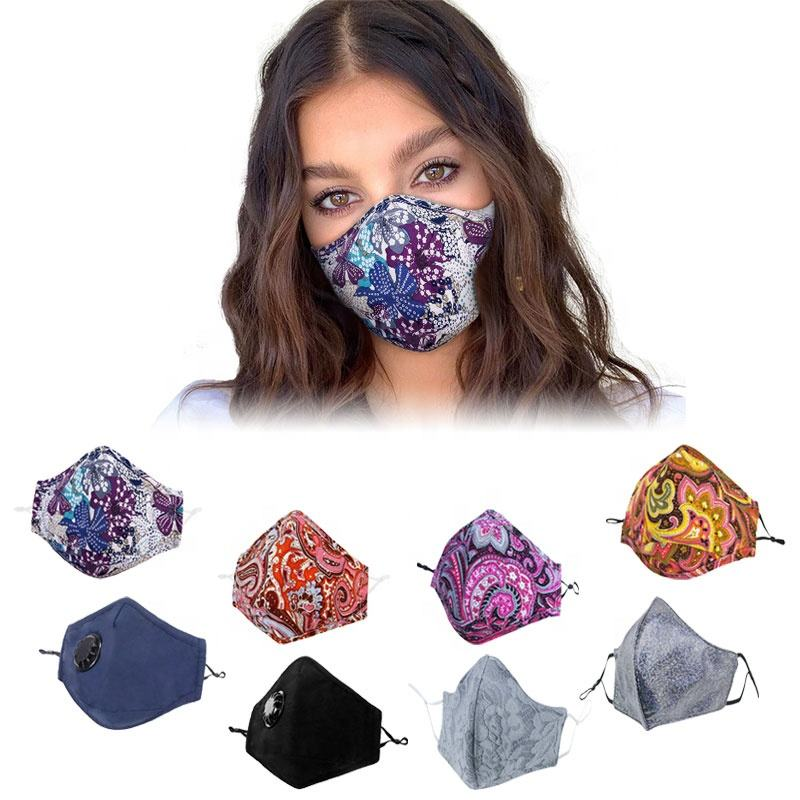fashion washable anti odor cotton mouth air face mask