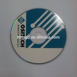 Blank CD with 2 colors customized screen spot/solid/PMS printing,700MB/80MIN/52X, with white paper bag.