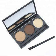 3 Colors Brow Private Label Waterproof Design Your Brand Eyebrow Kits Powder With Mirror