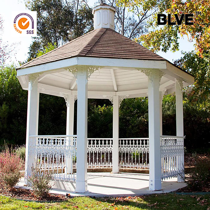 park rest area cheap garden used cast black iron gazebos for sell IGZ-04