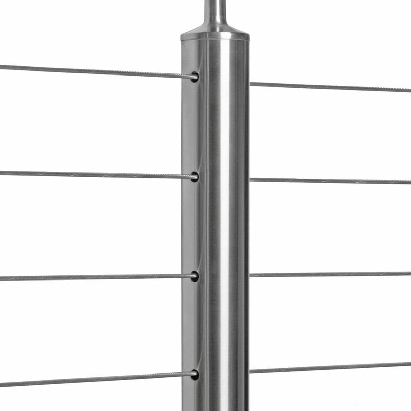 Balcony design stainless steel handrail fittings glass balustrade post supports for decking