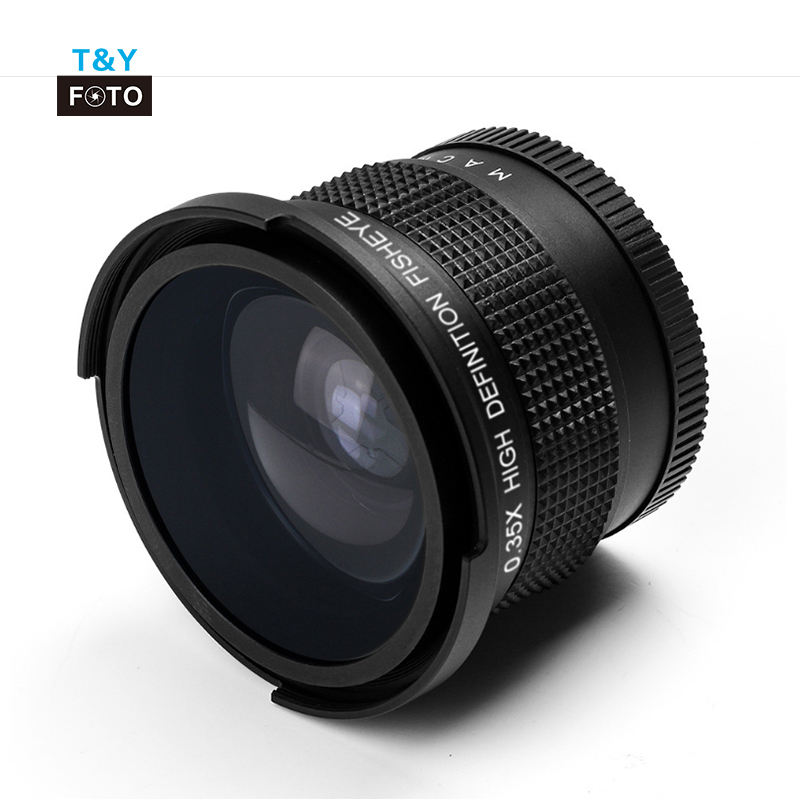 52-58mm 0.35X HD Professional Super Fisheye Wide Angle camera Lens wide/ Macro Close Up Lens For DSLR Camera