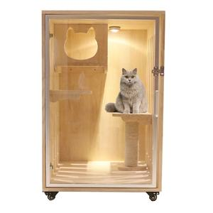 Pet Supplies Luxury Cabinet Wooden Furniture Cats Amusement Park Play Cat House