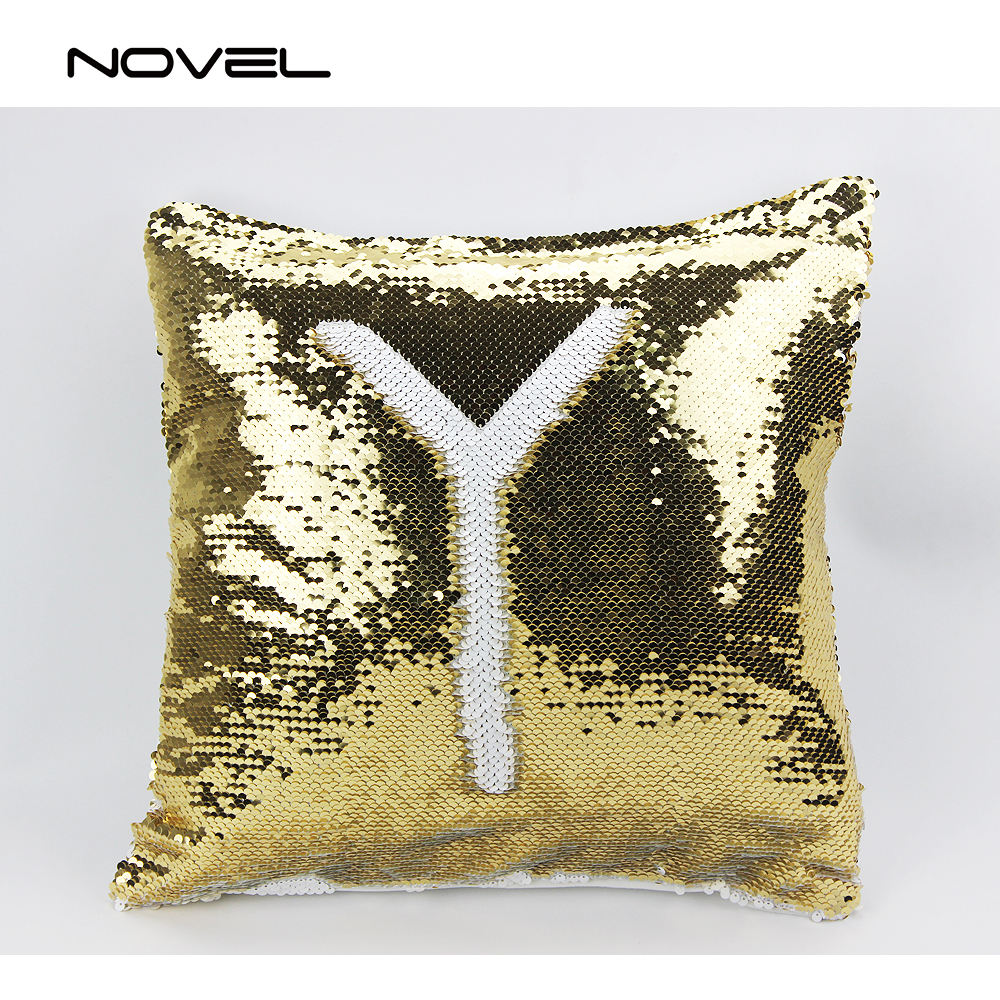 Fashion Blank Sublimation Full Printing Sequin Pillow