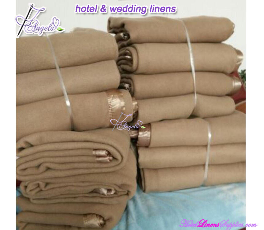 50% wool / 50% acrylic camel hotel blanket, camel blanket for hotels, full-180*230cm