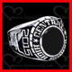 316L stainless steel china class ring black onyx ring