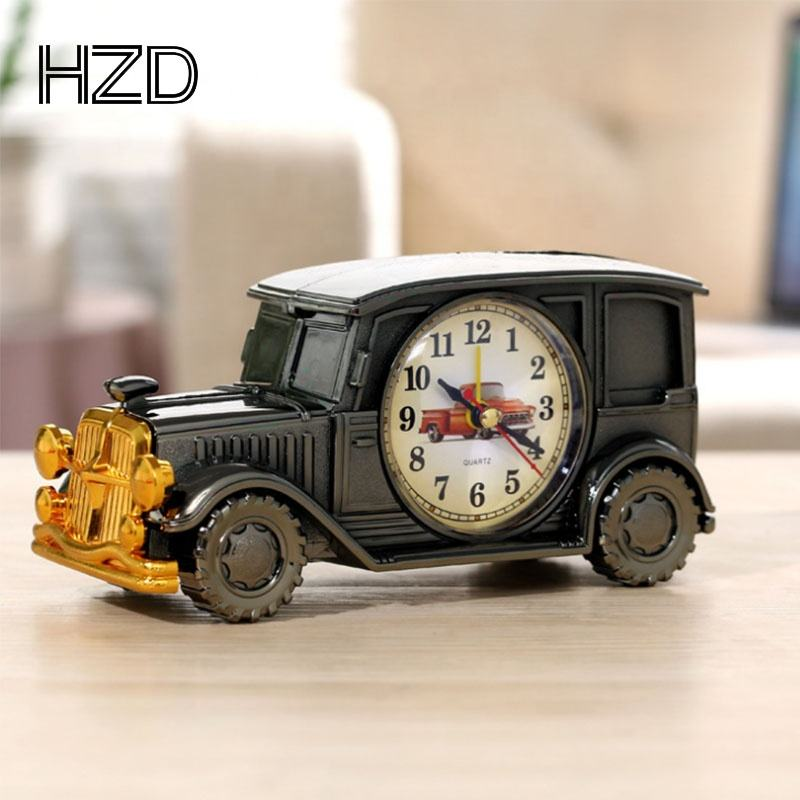Retro vintage classic car 24 hours digital pointer alarm clock with logo