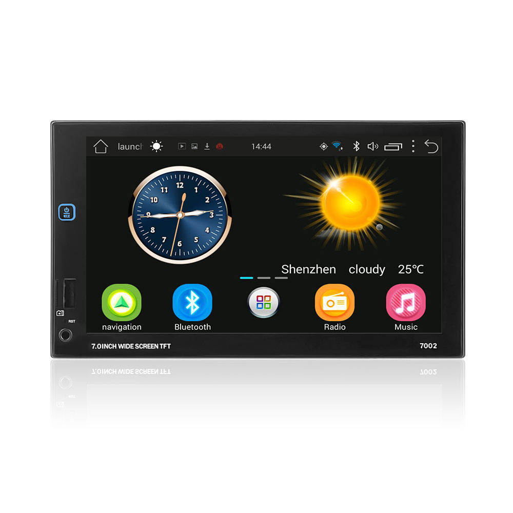 7 zoll Full touch screen 2din Android 1 + 16 gb GPS WIFI USB FM Bluetooth Spiegel link auto mp5 auto radio-player