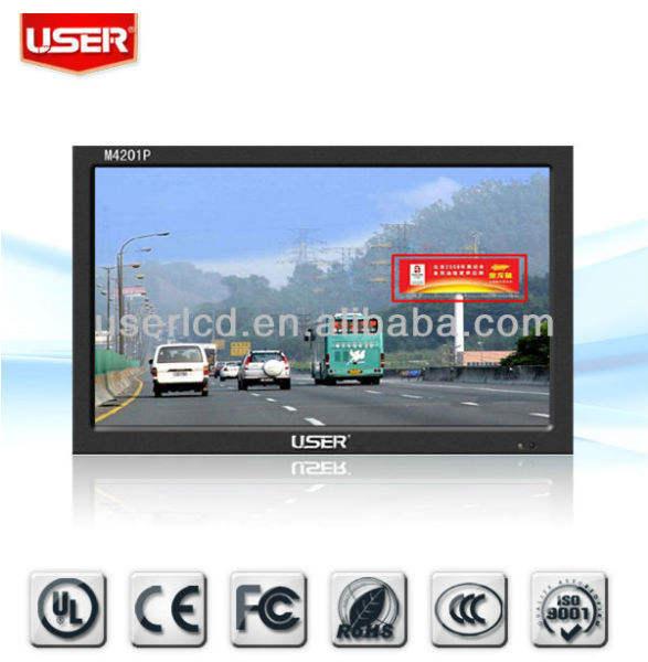 26 дюйма высокой яркости жк-видеонаблюдения монитор, привело backight с дешевым ценой!