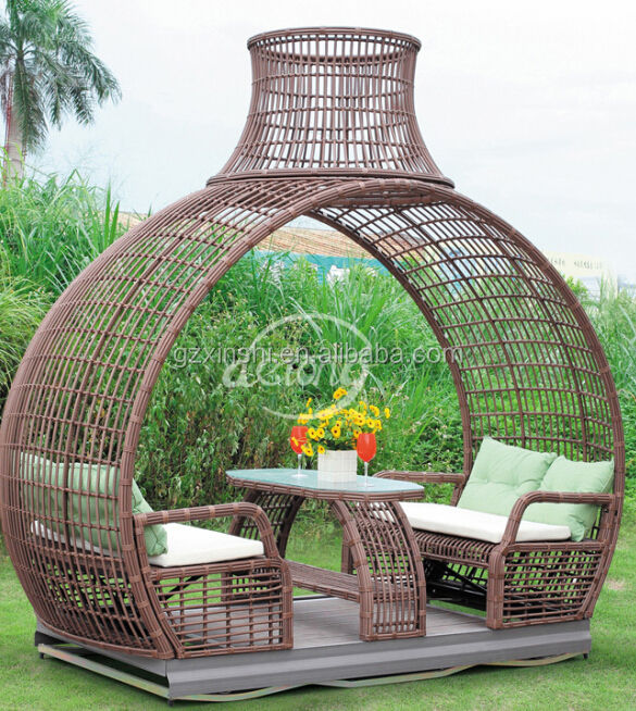 New design high quality outdoor rattan grader swing chair/beer pation swing chair
