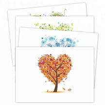 custommade foldable floral flower printing thank you greeting note cards 100 bulk with envelope