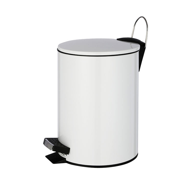 Hotel kitchen food pedal bin kitchen and stainless steel waste bin with white color stainless steel medical waste bin