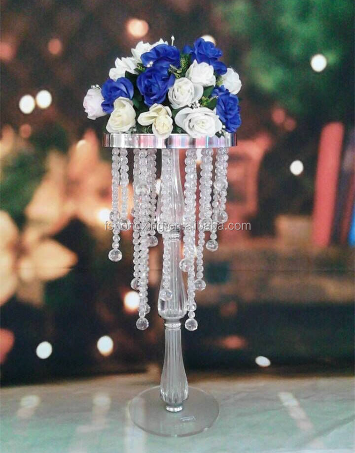 Tall Ronde crystal/acryl bloem stand <span class=keywords><strong>centerpieces</strong></span> voor bruiloft tafeldecoratie