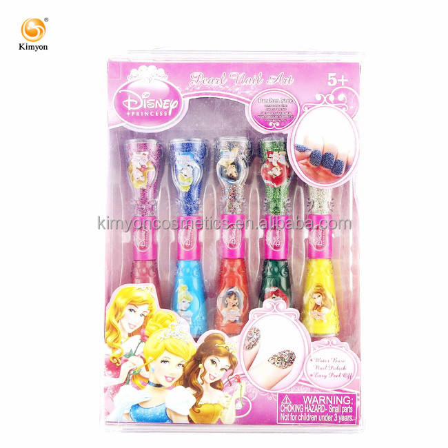 Set Hadiah Cat Kuku <span class=keywords><strong>Mini</strong></span>, Kancing Manik-manik Kaviar <span class=keywords><strong>Mini</strong></span> Putri Disney Bahan Dasar Air