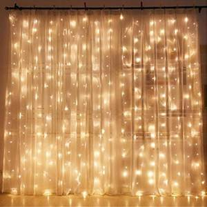 Twinkle Star 300 LED Window Curtain String Light for Wedding Party Home Garden Bedroom Outdoor Indoor Wall