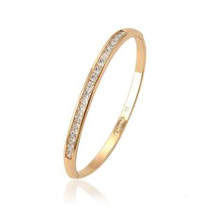 51953 xuping superstar accessories jewelry colorful Synthetic CZ stone dainty gold bangle for women