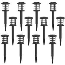 Lawn Walkway Square Powered Landscape Stake Yard Decoration Underground Spike LED Light Solar Ground Garden Lights Outdoor
