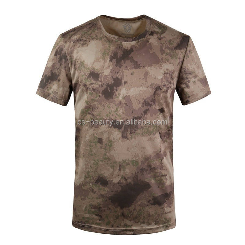 Drop Shipping AU Color 2016 Summer T Shirt Men Army Sport Tactical T-shirt short sleeves Men Clothes Brand Tree Camo T Shirt