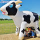 Giant Inflatable Milk Cow Cartoon Character for Advertising