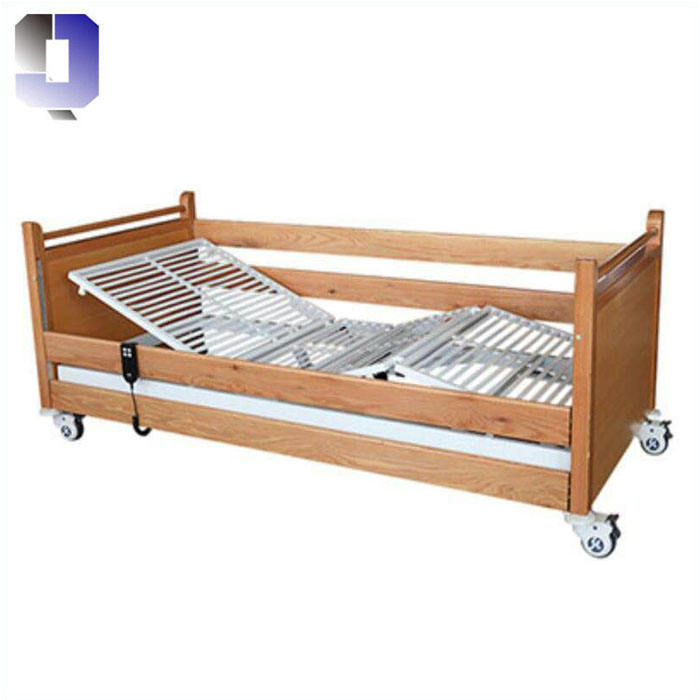 JQ-006-2 wooden head boards and wooden batten railing home patient nursing bed