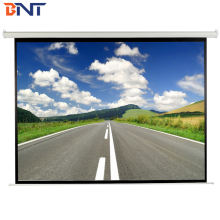 used for auditorium matte white material 16:9 aspect ratio electric screen  motorized projector screen