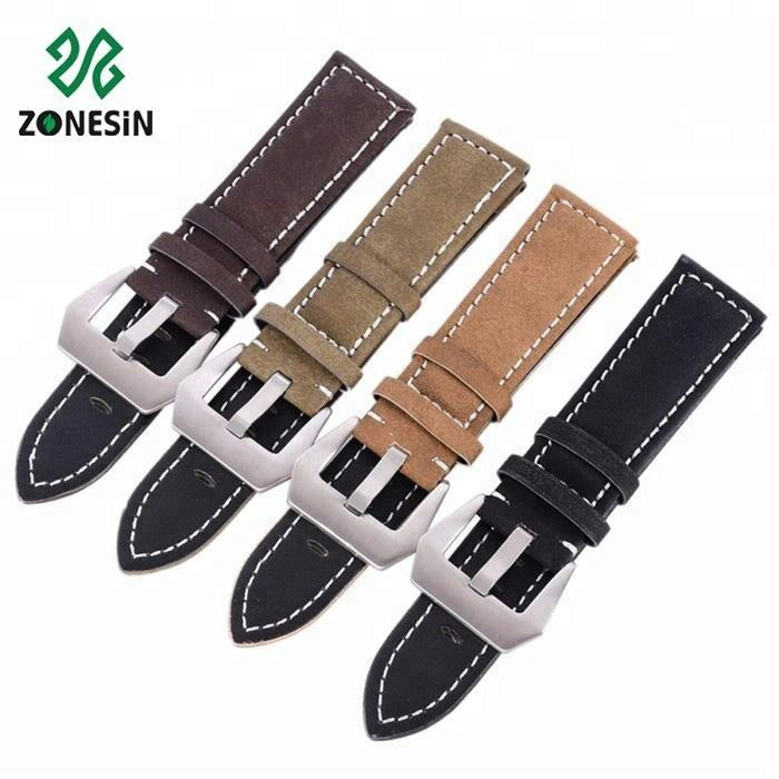 Western Vintage Style Full Grain Leather Handmade Watch Strap For Men