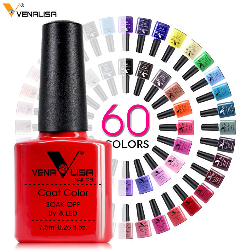 2020 Venalisa Nail Art Gel Polish For Nails French Tip Manicure Gel Varnish Enamel Lacquer Color OEM Logo UV LED Nail Gel Polish