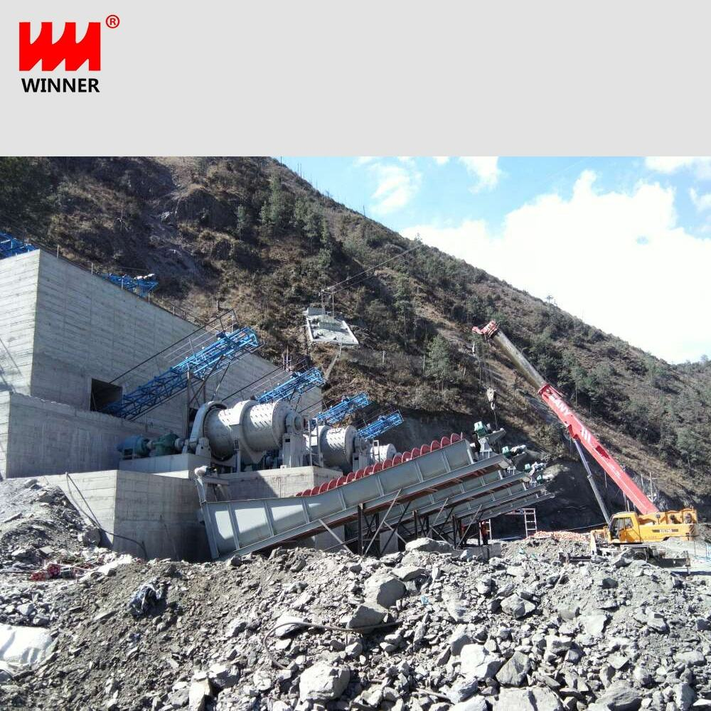Small mobile stone crusher plant+River sand making machine+Sand maker line