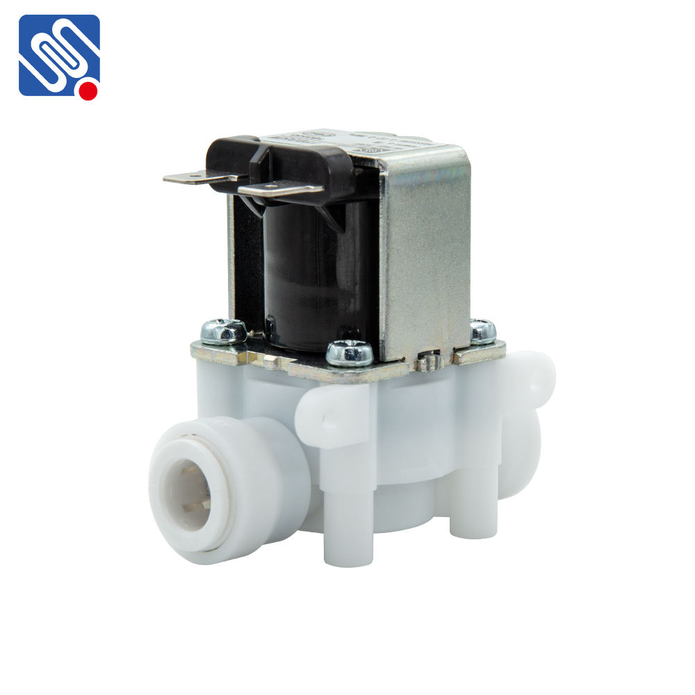 "Meishuo FPD360W 3/8"" quick connect mini solenoid water valve plastic 12v 24v 110vac 220vac water solenoid valve"