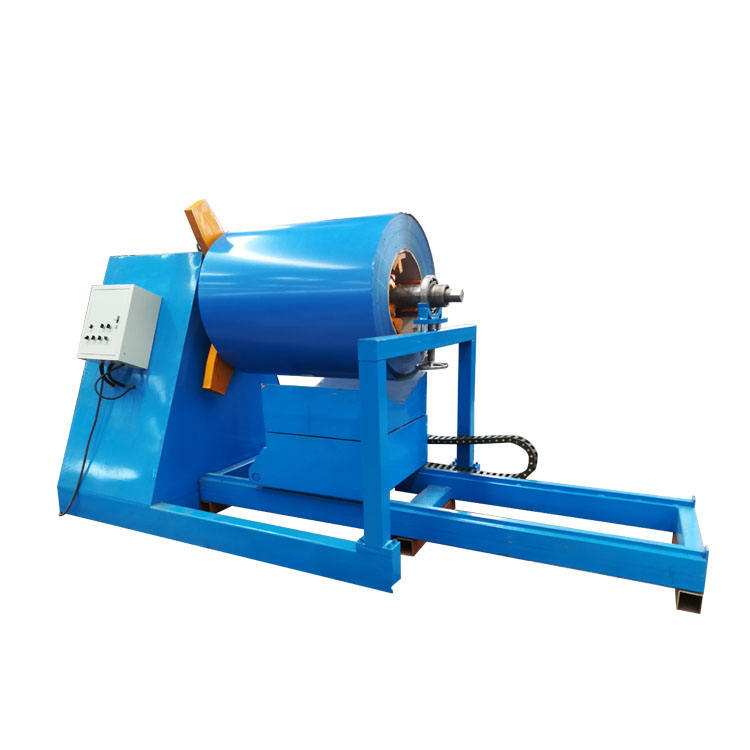 Full automatic steel coil hydraulic decoiler for roll forming machine