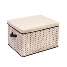 Household Essentials no woven fabric foldable storage box with detachable lid/kids toy storage box