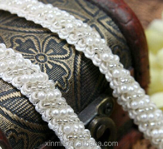 Rhinestone Pear Beaded Lace trim Bridal Sash Bridal Belt Beaded Jewelry Trim