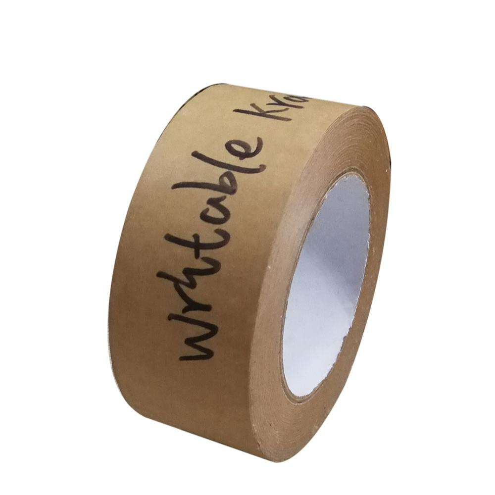 High adhesion write kraft paper tape Water activated kraft tape