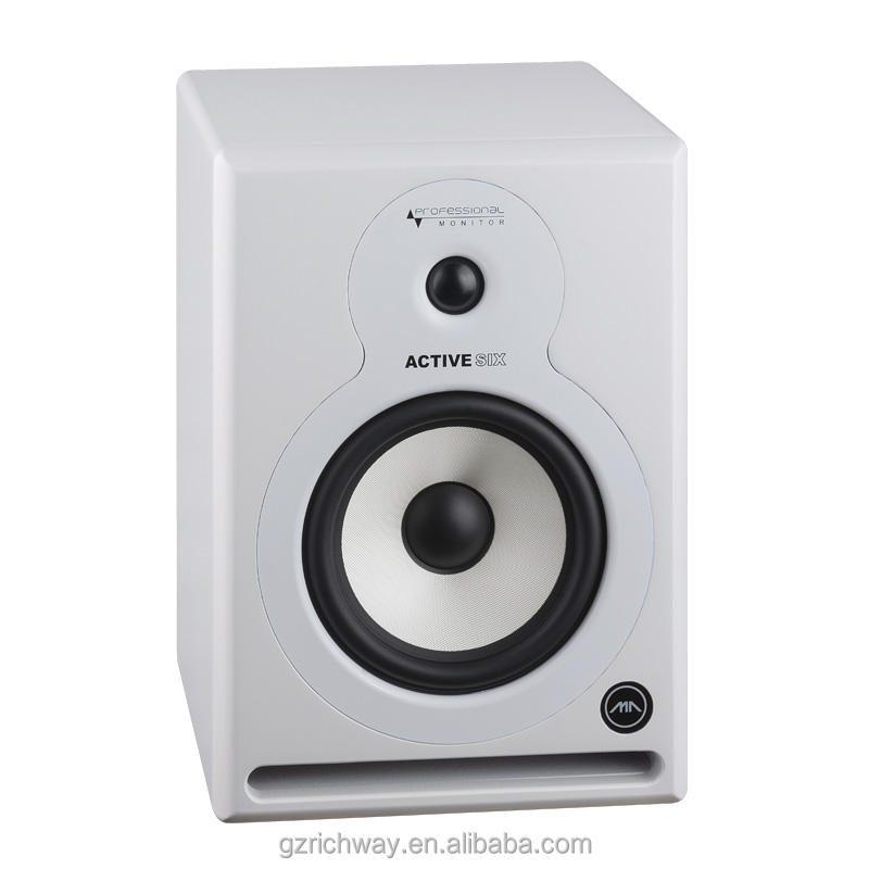 LJZ6 high end 6.5 inch active studio monitor speaker with bi-amp professional audio system in matte black or white color
