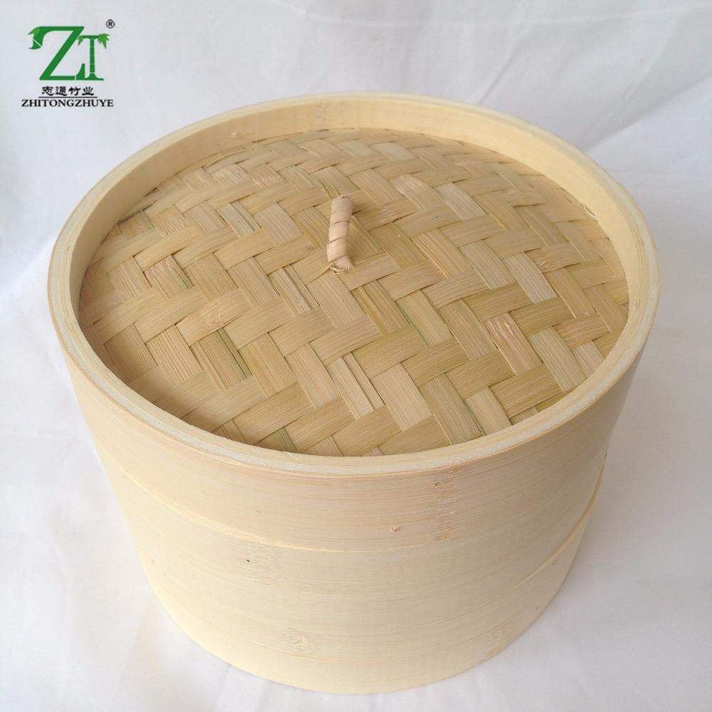 Hign Quality durable odorless bamboo steamer basket rice made in china
