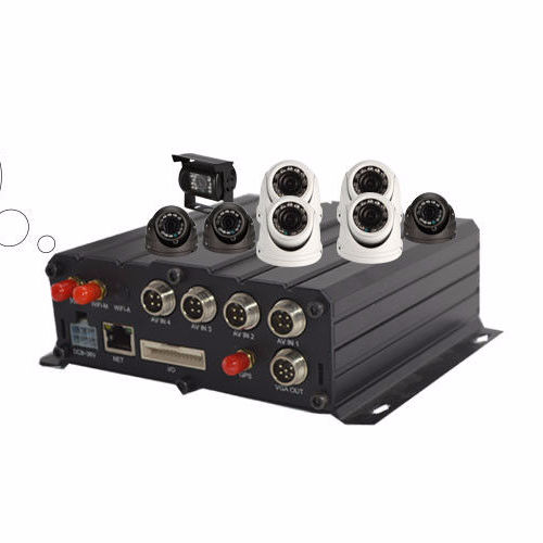 4CH MDVR SD Card Mobile DVR - DVR Car Camera System 720P/960P Video Recorder with Remote for Car Black Box Security Surveillance