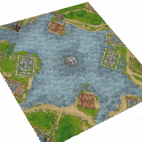 Rubber tafel top mat voor war game battle mat, 4x4/4x6 rubber Wargame
