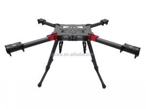 De fibra de carbono de 710mm plegable con multicopter quadcopter kit de marco de 710mm plegable Quadcopter marco Kit para aviones