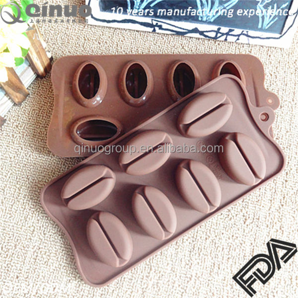 Supplying silicone cake mold coffee bean mold Food Grade silicone mould kitchenware bakeware free samples