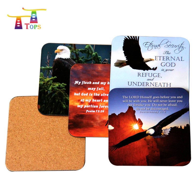 Mat Customized Printing Coffee Cork Pad Acrylic Wooden Tea Indian Handicrafts Gift Items Drink Custom Cup With Coaster Attached